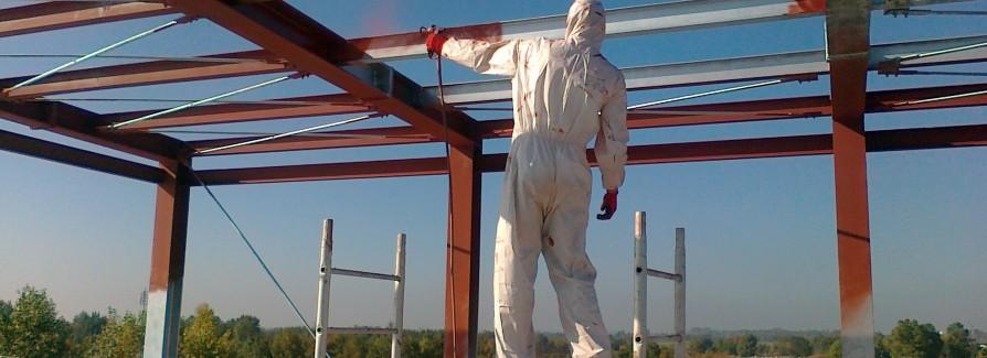 Ogromny Malowanie ogniochronne stali, malowanie antykorozyjne RQ94